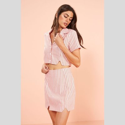 MINKPINK Check Notch Collar Shirt