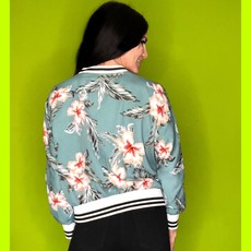 CUPCAKES AND CASHMERE Floral Bomber Jacket
