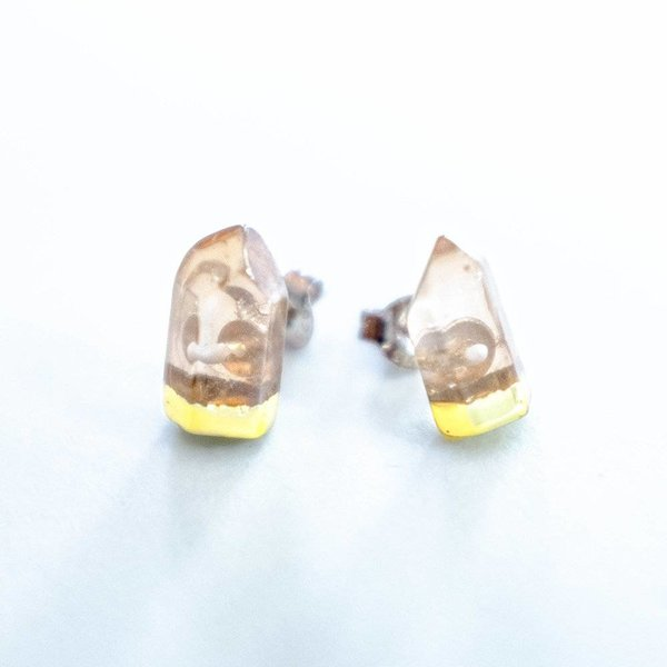 Gold Dipped Stud Earrings