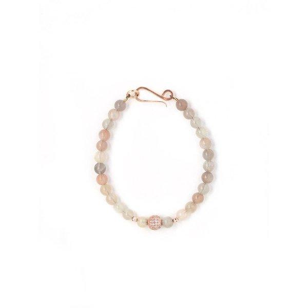 Harper Peach Moonstone Bracelet