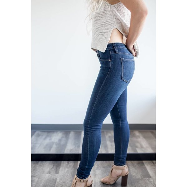 "9"" Rise Skinny Jean - Dark Denim"