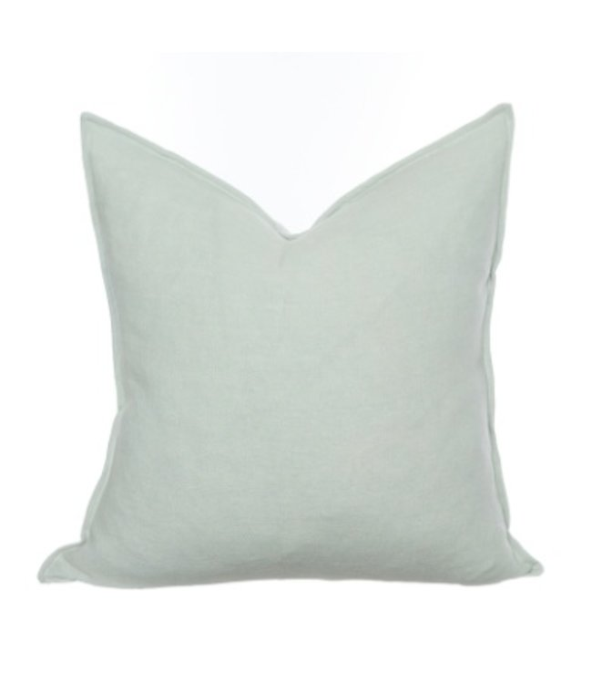 HOUSE OF CINDY HAVEN PILLOW - AQUAMARINE - 22X22