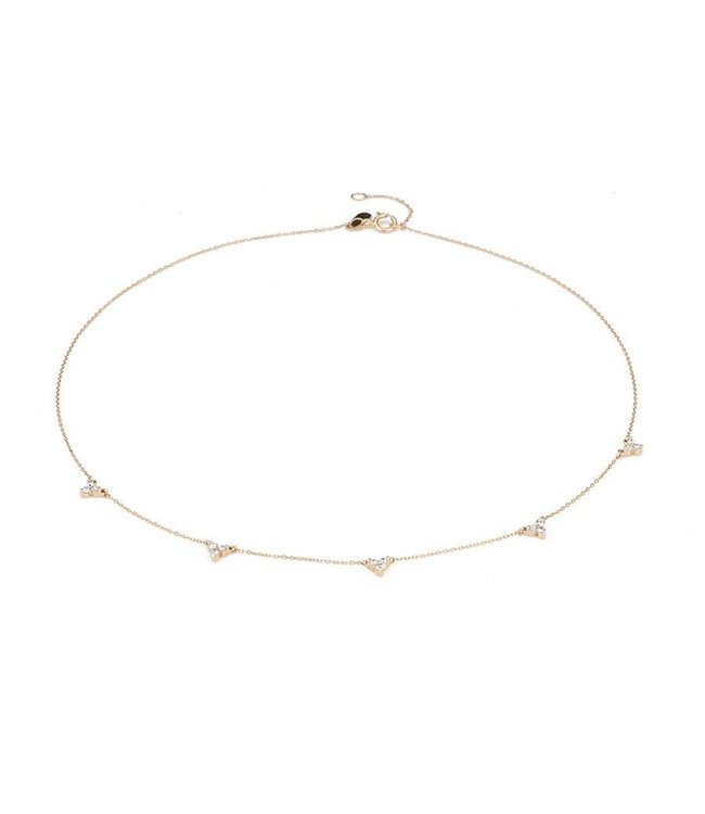 ADINA REYTER 5 CLUSTER CHAIN CHOKER-Y14