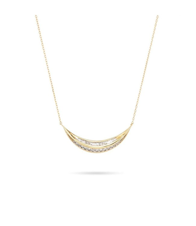 ADINA REYTER HEIRLOOM LARGE CURVE NECKLACE-Y14