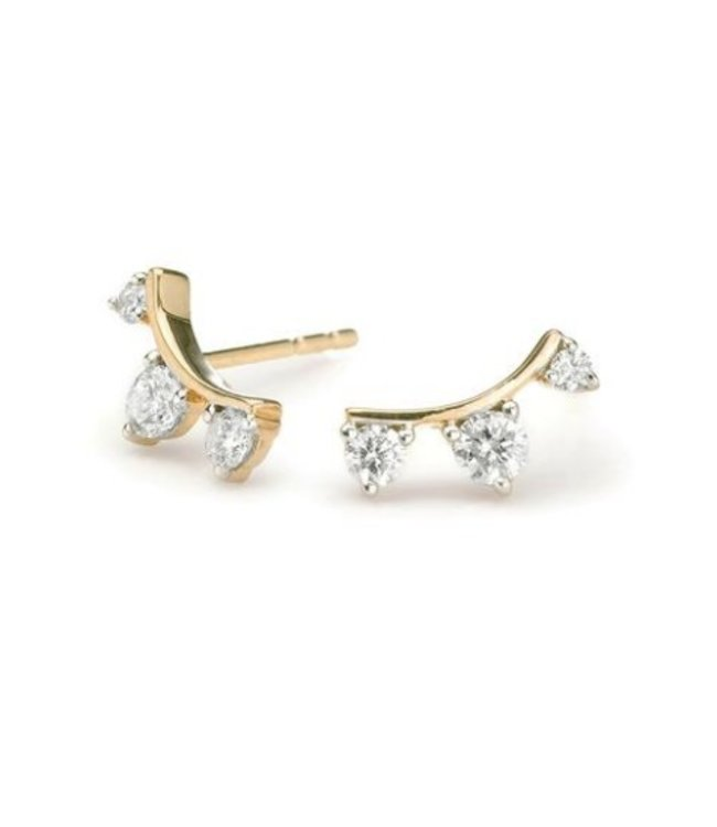 ADINA REYTER THREE DIAMOND AMIGOS CURVE POSTS-Y14