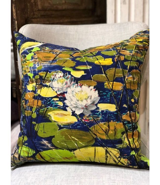 FRAN BUHR (C) PILLOWS DOWN VINTAGE FABRIC FRONT, ROMO DUNE BACK