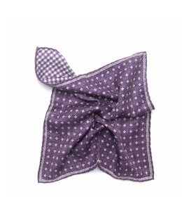 BUTTERFLY BOWTIES INC GRAPE/FOULARD 100% SILK REVERSIBLE POCKET SQUARE
