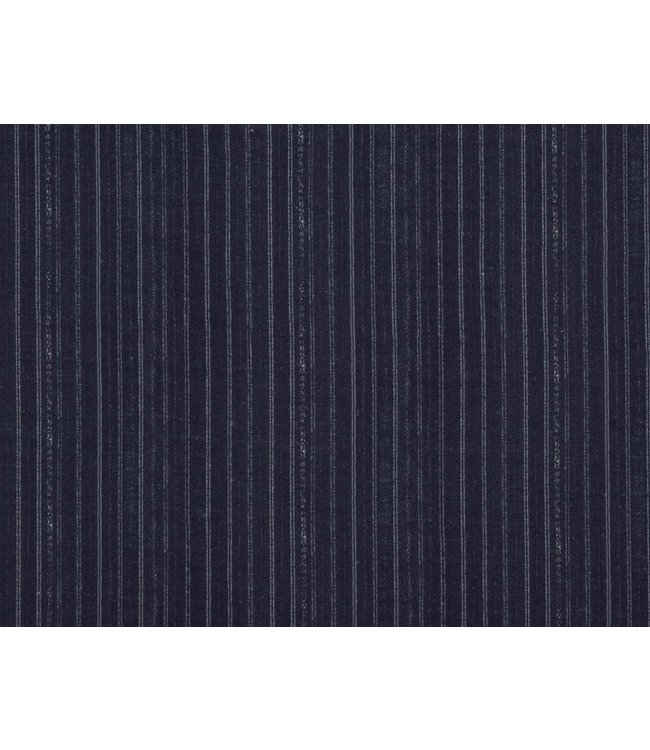 CISCO BROTHERS BENGAL PIN STRIP INDIGO FABRIC BY THE YARD