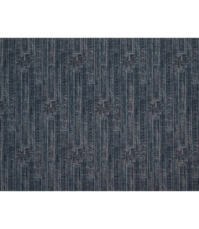 CISCO BROTHERS INLAY INDIGO FABRIC BY THE YARD