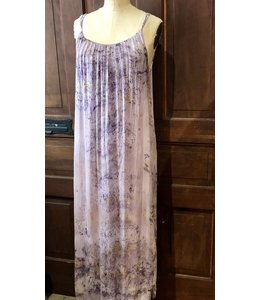 AVALOVE MAXI DRESS DYED WITH ROSES & CRYSTAL ELIXIRS