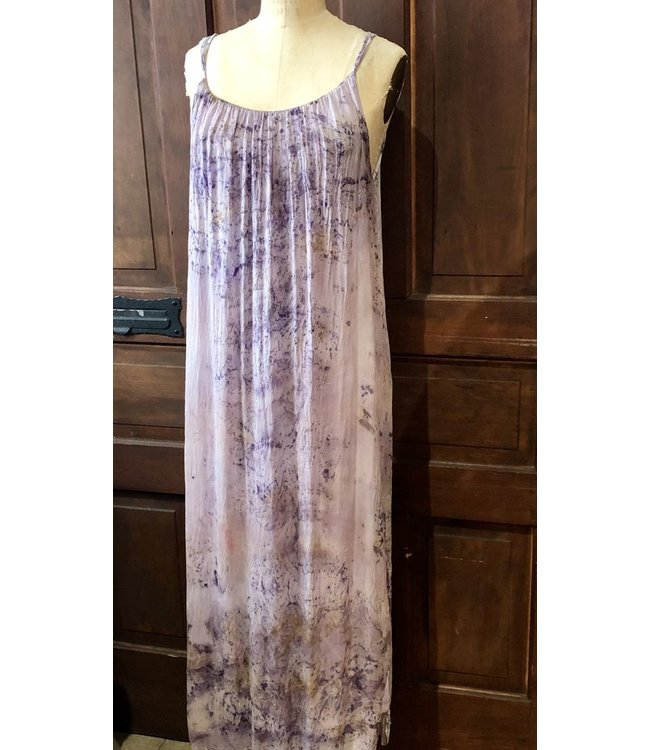 ELLAS MAXI DRESS DYED WITH ROSES & CRYSTAL ELIXIRS