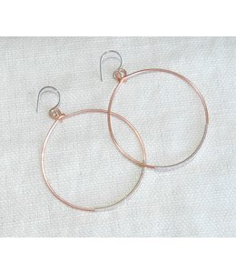 DEBORAH WASLAWSKI (C) ROSE GOLD HOOPS WRAPPED WITH SILVER