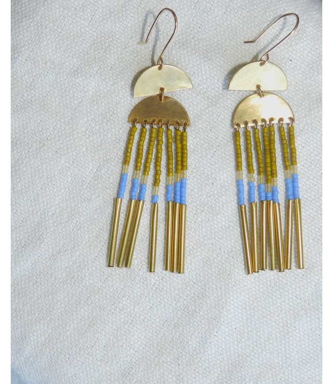 ALCHEMILLA SOLAR FRINGE EARRINGS