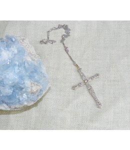 FRAN BUHR (C) VINTAGE FILIGREE AND DIAMOND CROSS