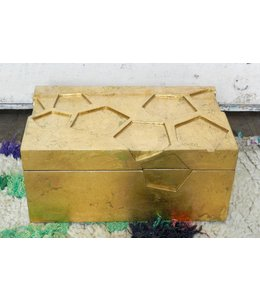 GLOBAL VIEWS/ STUDIO A COSMO BOX-LUXE GOLD LEAF-SMALL