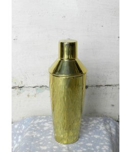 ROOST HAMMERED BRASS COCKTAIL SHAKER