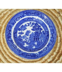 ELLAS ALLERTON&#039;S BLUE WILLOW<br />BREAD PLATE 6&quot;