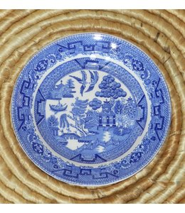 ELLAS W RIDGWAY &amp; CO BLUE WILLOW<br />BREAD PLATE 7&quot;