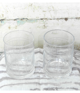 ROOST CUT GEOMETRIC GLASS TUMBLER