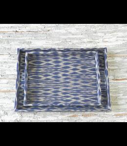 Traditional woven t'nalak fabric  trays set of 2