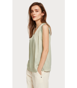 SCOTCH & SODA PLEATED SLEEVELESS TOP IN VISCOSE QUALITY