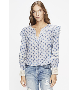 LOVE SAM ANTOINETTE FLORAL LONG SLEEVE BLOUSE