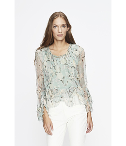 LOVE SAM TUILERIES RUFFLE TOP