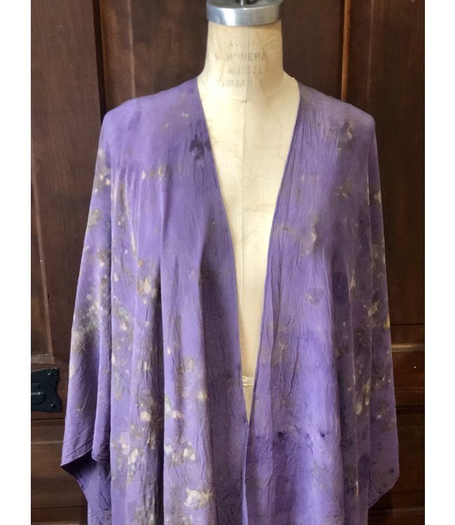 ELLAS KIMONO DYED WITH ROSES & CRYSTAL ELIXIRS
