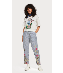 SCOTCH & SODA OVERSIZED TEE WITH 'PALM COVE' ARTWORK