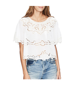 LOVE SAM MONCEAU EMBROIDERED TOP