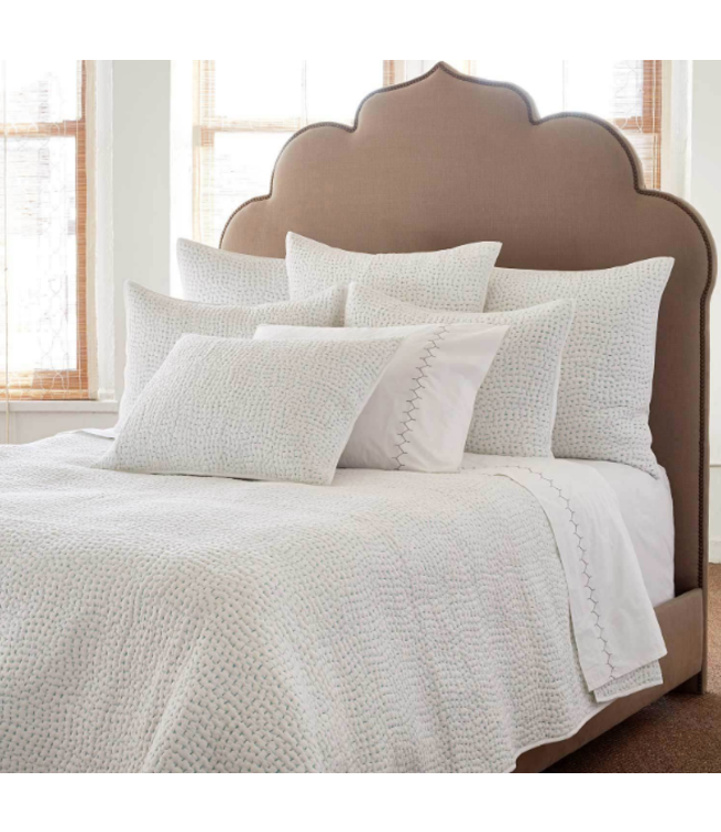 JOHN ROBSHAW HANDSTITCHED SEAGLASS QUEEN COVERLET