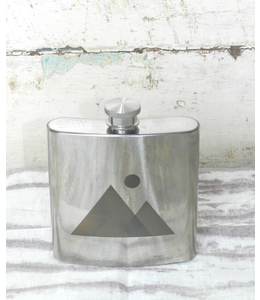 ROOST NATURE-ETCHED STAINLESS FLASK Sz. SMALL