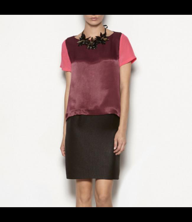 HOSS/INTROPIA SILK TIERED DRESS