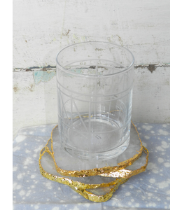 ROOST GILDED-EDGE CRYSTAL COASTER