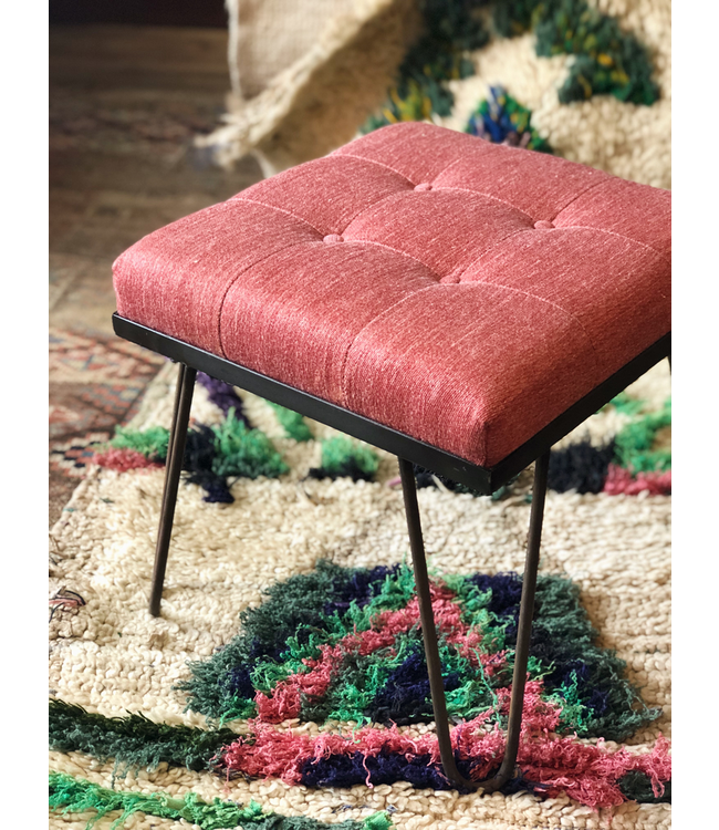 CISCO BROTHERS EDWIN OTTOMAN SN14 LAURENT CORAL
