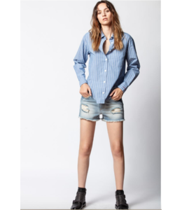 ZADIG & VOLTAIRE TAIS RAYEE BUTTON UP