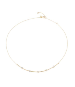 ADINA REYTER 5 DIAMOND CURVE COLLAR - Y14