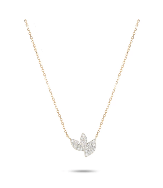 ADINA REYTER TINY PAVE MARQUISE CLUSTER NECK - Y14