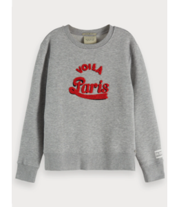 SCOTCH & SODA CREWNECK SWEAT WITH ARTWORK
