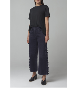 CITIZENS OF HUMANITY SARA WIDE LEG SIDE SEAM RUFFLE