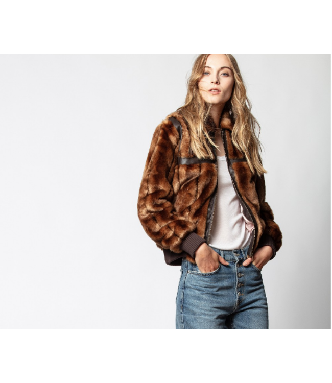 ZADIG & VOLTAIRE LOTTA MIX JACKET