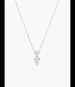 ADINA REYTER 2 DIAMOND JUMBLE NECKLACE