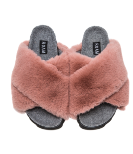 R0AM FAUX FUR SLIPPERS