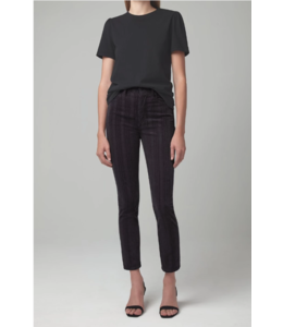 CITIZENS OF HUMANITY OLIVIA HIGH RISE SLIM IN COSMIC GREY CORDS
