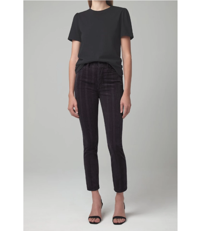 CITIZENS OF HUMANITY OLIVIA HIGH RISE SLIM (VARIEGATED CORDUROY)