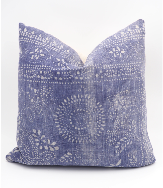 ELLAS 16x16 PURPLE INDIGO BATIK PILLOW
