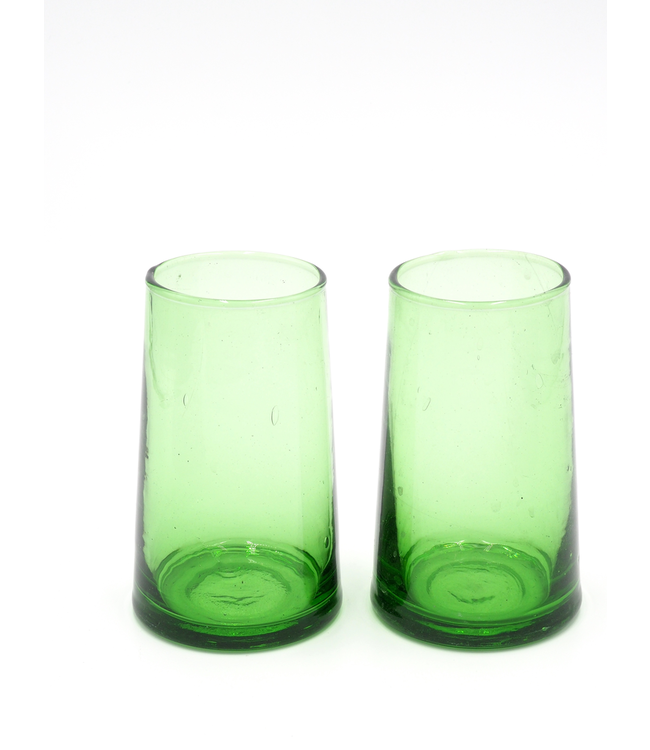 SCHWUNG HOME USA GREEN GLASSES, LARGE
