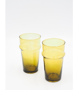 SCHWUNG HOME USA AMBER GLASSES, LARGE