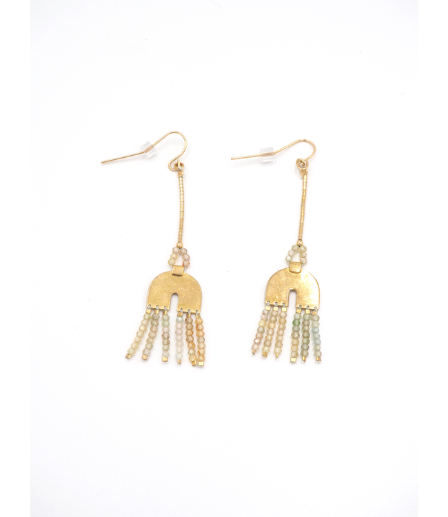 ILD EARRINGS DUNE ARC SHORT ZIRCON