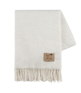 LANDS DOWNUNDER HEATHERED IVORY JUNO THROW